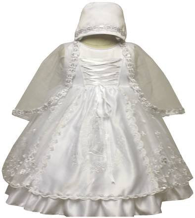 Baby Girl Toddler Christening Baptism Dress Gowns outfit set with bonnet /XS/S/M/L/XL/0-3M/3-6M/6-12M/12-18M/18-24M/XSMALL/SMALL/MEDIUM/LARGE/XL/2t/s-m-l-xl#5445 - myfamilystore