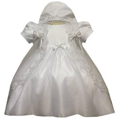 Baby Girl Toddler Christening Baptism Dress Gowns outfit set with bonnet /XS/S/M/L/XL/0-3M/3-6M/6-12M/12-18M/18-24M/XSMALL/SMALL/MEDIUM/LARGE/XL/2t/#5421 - myfamilystore