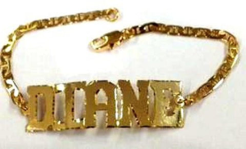 baby Personalized 14K gold overly Name Bracelet christening baptism birthday gift /x1 - myfamilystore