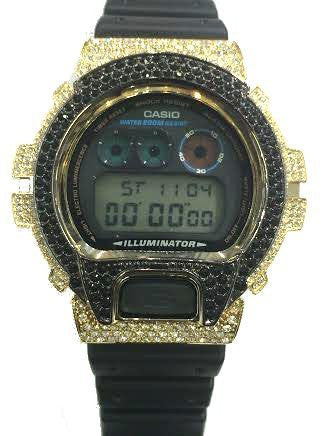 Casio G-shock Custom 3 Ct Stone Cz diamond 300 Pcs Mens Watch Dw6900 /g - myfamilystore