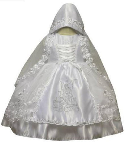 Baby Girl Christening Dress Gowns Outfit Set Bonnet Size s to 2t #5440 - myfamilystore