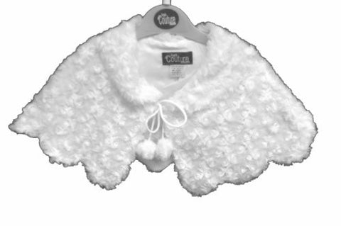 Toddler Baby Girls White Faux Fur Cardigan Cape Jacket Poncho Shawl Christening Baptism/s-m-l-xl/#104 - myfamilystore
