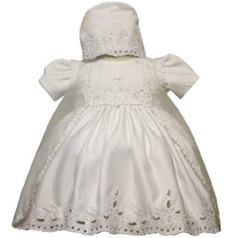 Baby Girl Christening Dress Gowns Outfit Bonnet Size /Small/medium/large/xl/2t/#5426 - myfamilystore