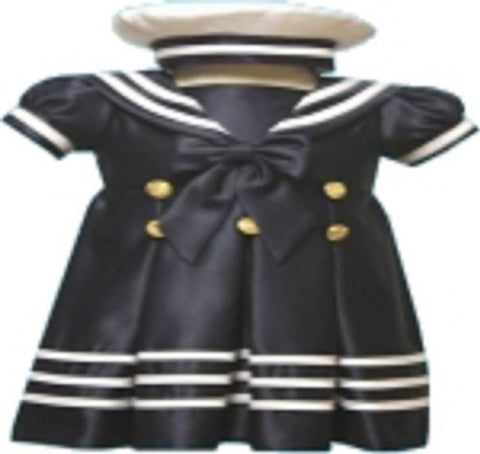 Baby-girls Flower Girl Christening Sailor Dress Outfit Sizes S-xl /43 Blue - myfamilystore
