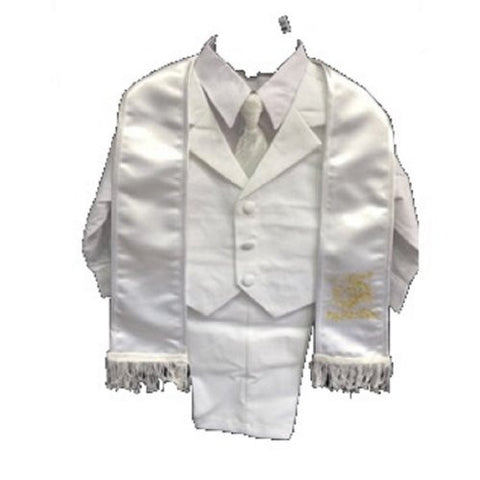 Baby Boy Toddler Christening Baptism White Outfit with /S to xl/tierope - myfamilystore