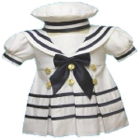 Baby-girls Flower Girl Christening Sailor Dress Outfit Sizes S-xl /#43 White - myfamilystore