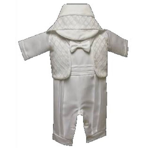 Baby Boy Toddler Christening Baptism White Outfit with Hat S TO XL /2105 - myfamilystore