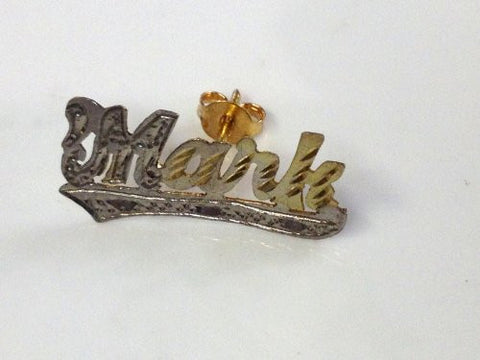 Personalized 14k Gold Overly Any Name Stud Earrings Single Plated /Ed1 - myfamilystore