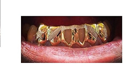 custom made removable gold caps teeth including the mold kit and shipping/ 6 teeth / Grillz/grills - myfamilystore