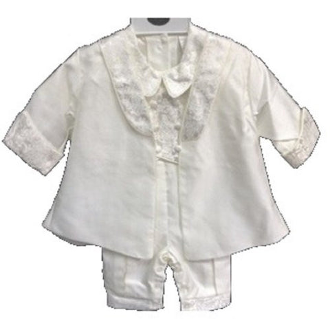 Baby Boy Toddler Christening Baptism White Outfit with Hat /Xs/s/m/l/xl/2668 - myfamilystore