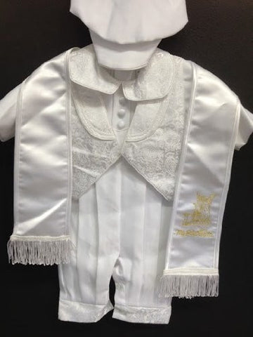 Baby Boy toddler Christening Baptism white outfit with rope /XS/S/M/L/XL/0-3M/3-6M/6-12M/12-18M/18-24M/XSMALL/SMALL/MEDIUM/LARGE/X LARGE/a4 - myfamilystore