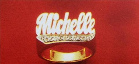 14k gold overly any Name Rings Personalized jewelry /gifts/a11 - myfamilystore