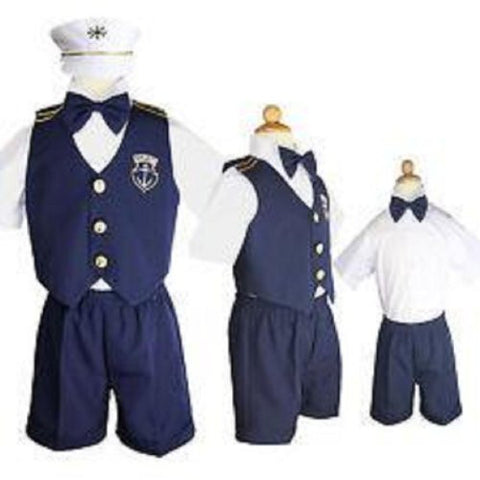 Baby Boy Christening Captain Sailor Dress Outfit Sizes S-xl /#606 - myfamilystore