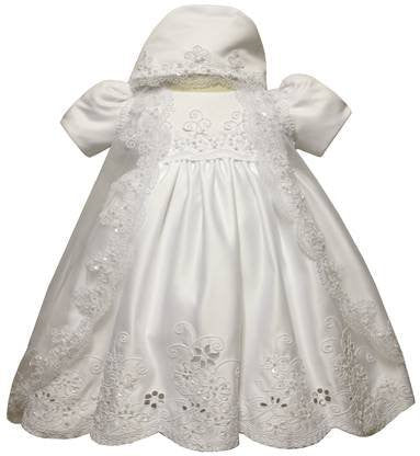 Baby Girl Toddler Christening Baptism Dress Gowns outfit set with bonnet /XS/S/M/L/XL/0-3M/3-6M/6-12M/12-18M/18-24M/XSMALL/SMALL/MEDIUM/LARGE/XL/2t/#5422 - myfamilystore