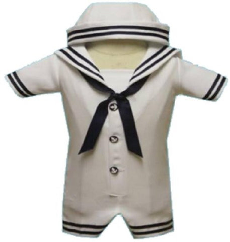 Toddler Baby Boy Tuxedo suit Sailor captain Christening Baptism wedding/SMALL/MEDIUM/LARGE/EXTRA LARGE/3-6 m/6-12 M/12-18 M/18-24-M/S/M/L/XL/2T/3T/4T/#2047 white - myfamilystore