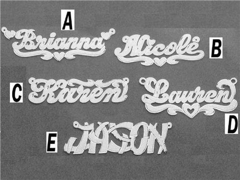 PERSONALIZED silver 925 Any Name Plate necklace/birthday christening gift /b7 - myfamilystore
