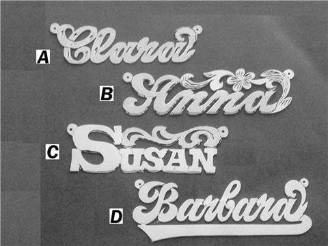 PERSONALIZED silver 925 Any Name Plate necklace/birthday christening gift /b9 - myfamilystore