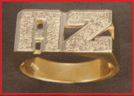 10k gold Name Ring letters personalized jewelry/gifts/b5 - myfamilystore