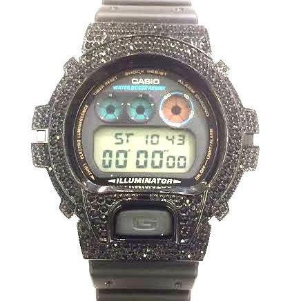 Casio G-shock Custom 3 Ct Stone Cz diamond 300 Pcs Mens Watch Dw6900 /d - myfamilystore
