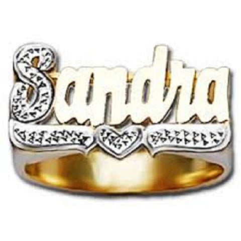 14k Gold Overlay Name Rings Personalized - myfamilystore