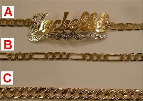 14K GP singel Name Bracelet name Plate personalized /gifts/g1 - myfamilystore