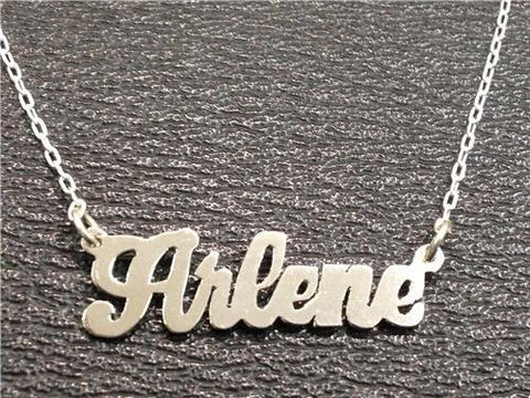 PERSONALIZED silver 925 Any Name Plate necklace/birthday christening gift /b5 - myfamilystore