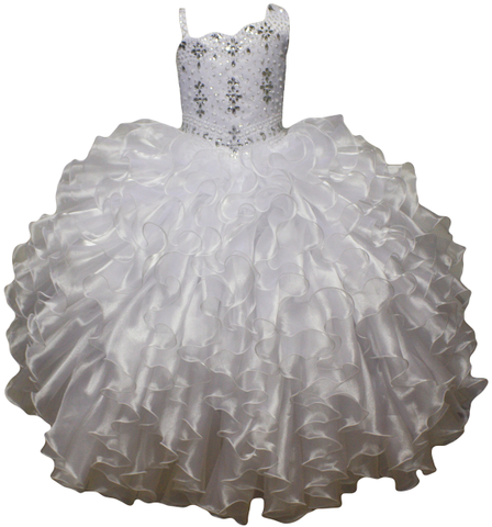 Girl Teen Formal National Pageant Wedding Dance Party Graduation Wedding Flower Dress size 4-6-8-10-12-14-16-18-20 /#597 white - myfamilystore