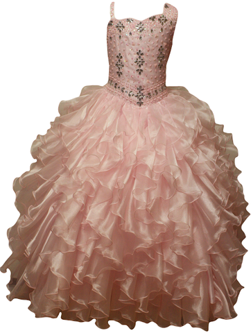 Girl Teen Formal National Pageant Wedding Dance Party Graduation Wedding Flower Dress size 4-6-8-10-12-14-16-18-20 /#597 pink - myfamilystore
