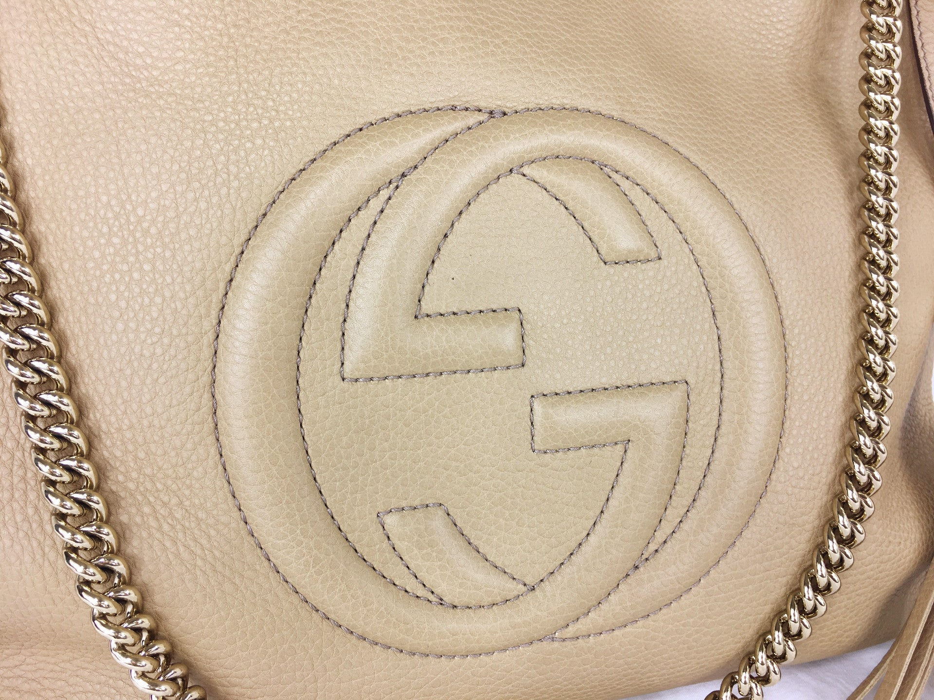 GUCCI Soho Pebbled Leather Tote (Large)
