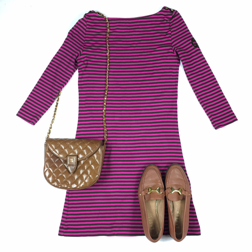 TORY BURCH Striped Dress (XS)