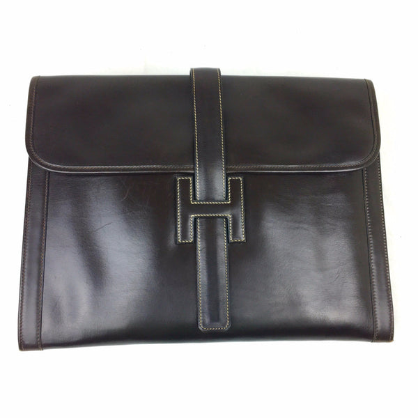 HERMES Jige GM Oversized Clutch