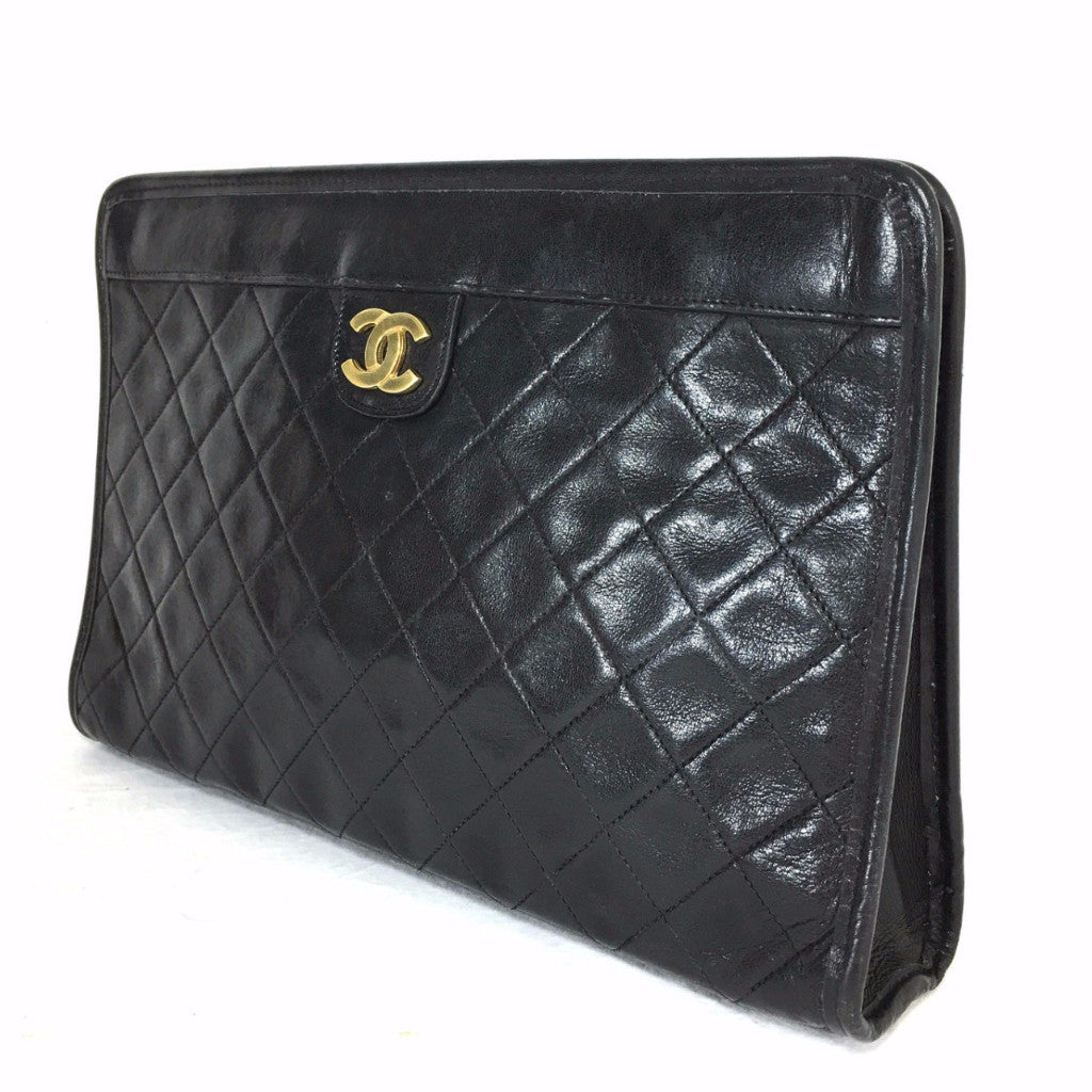 CHANEL Lambskin Quilted Evening Clutch