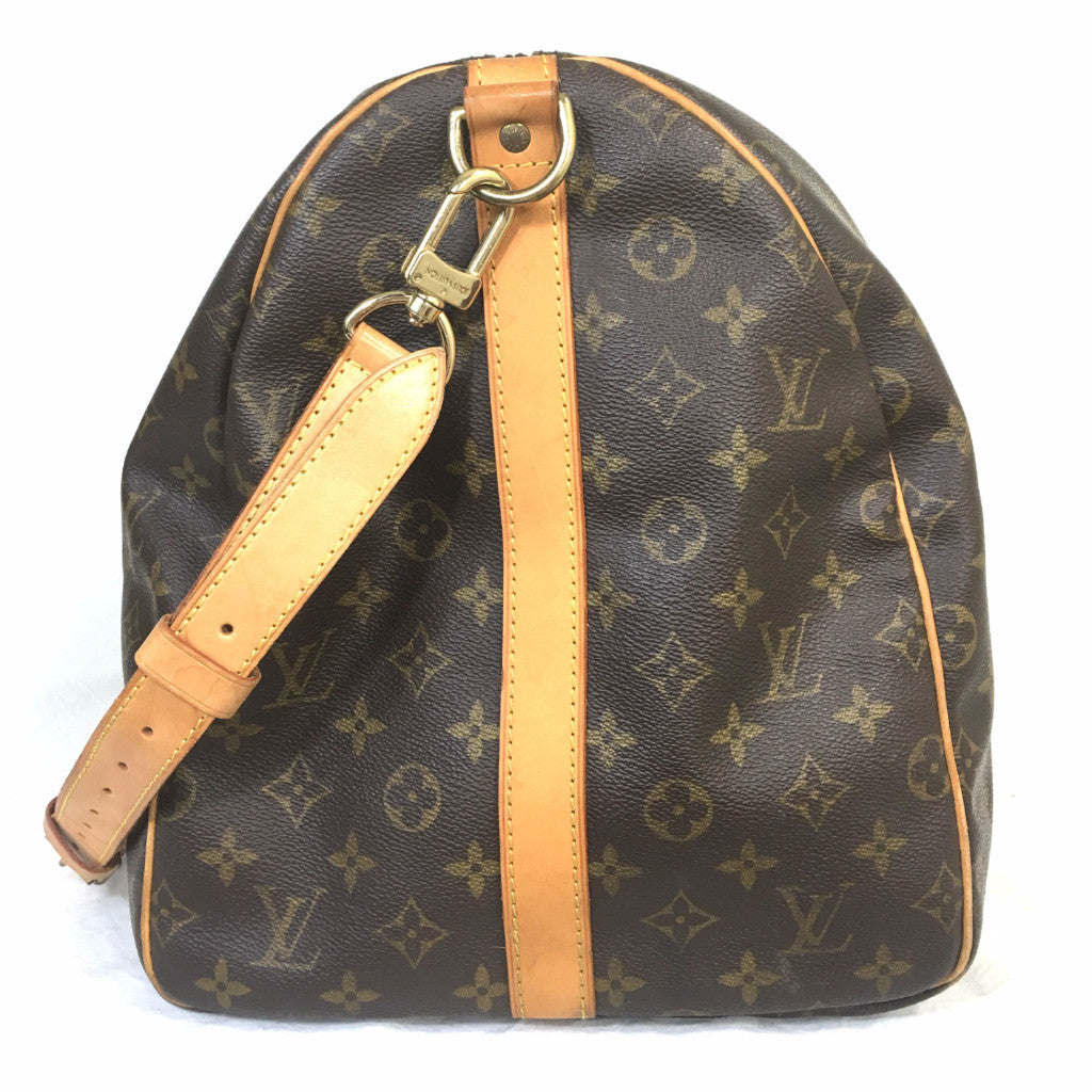 LOUIS VUITTON Monogram Keepall 55 Bandouliere Boston Bag