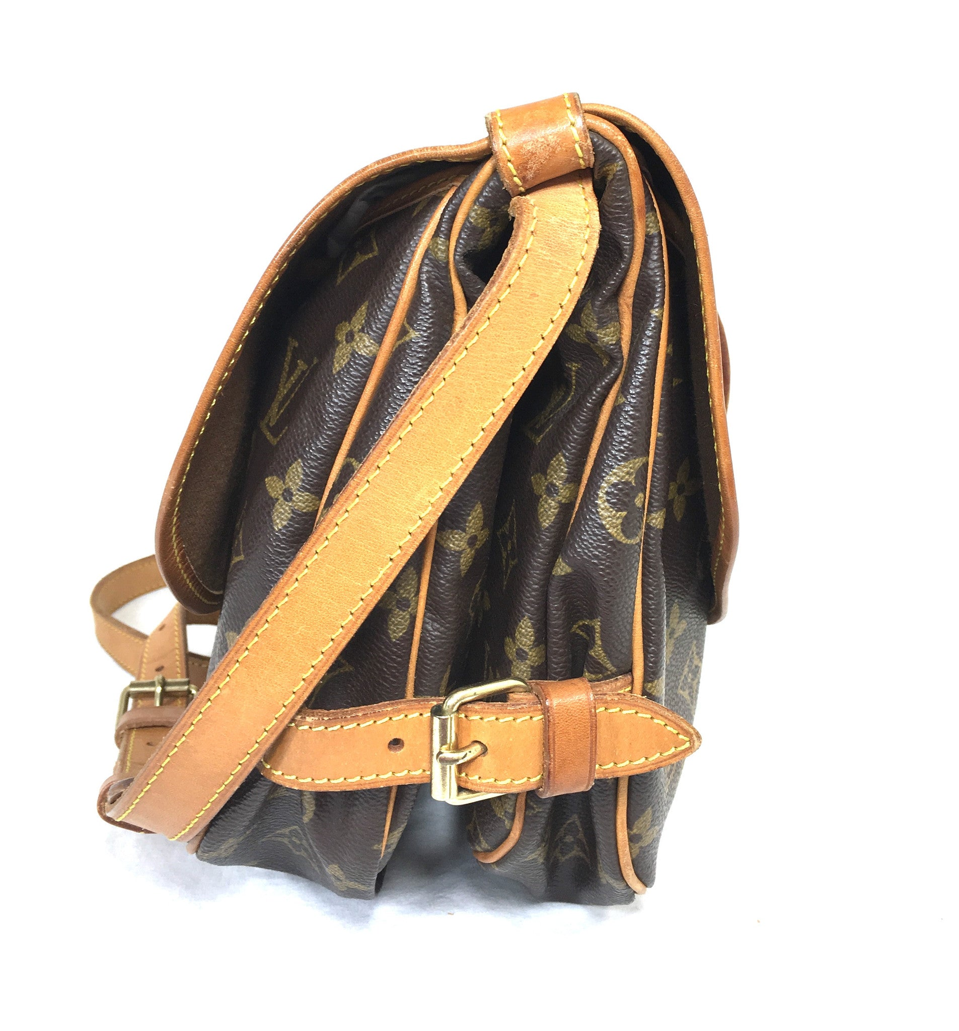 LOUIS VUITTON Monogram Saumur 30 Crossbody Bag