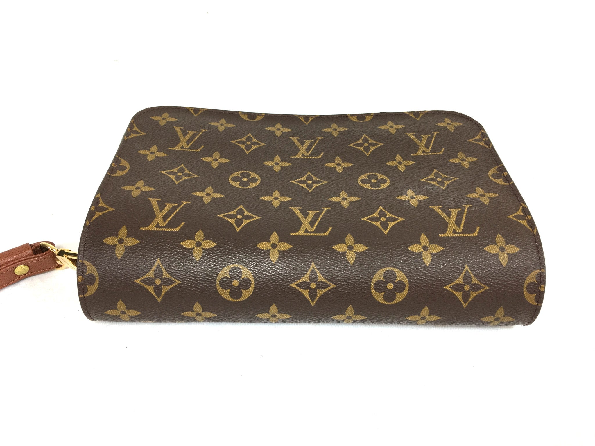 LOUIS VUITTON Monogram Orsay Unisex Clutch Wristlet