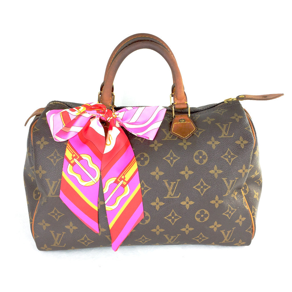 LOUIS VUITTON Monogram Speedy 30 + FREE Scarf