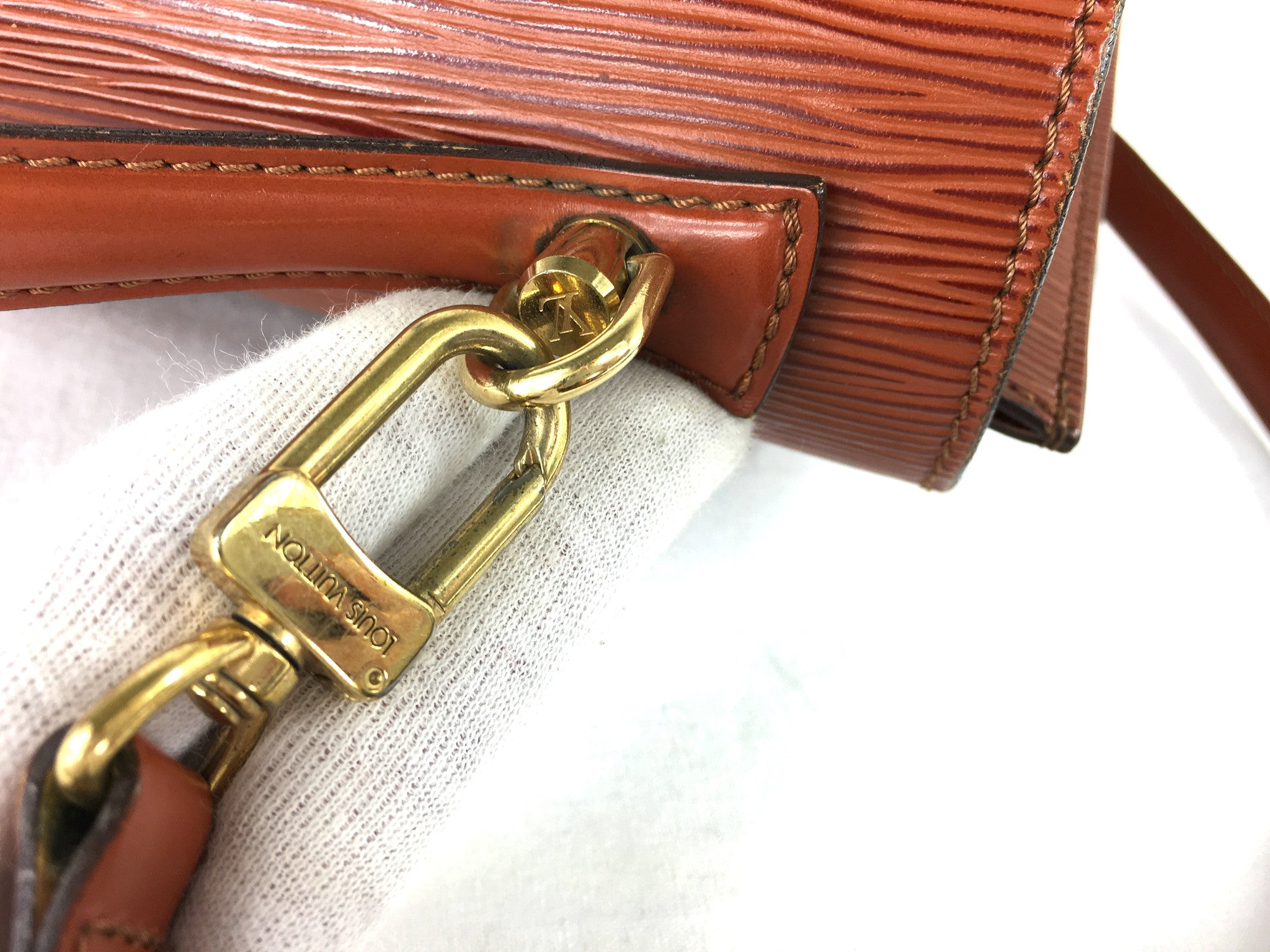 LOUIS VUITTON EPI Monceau Bag w/ Strap