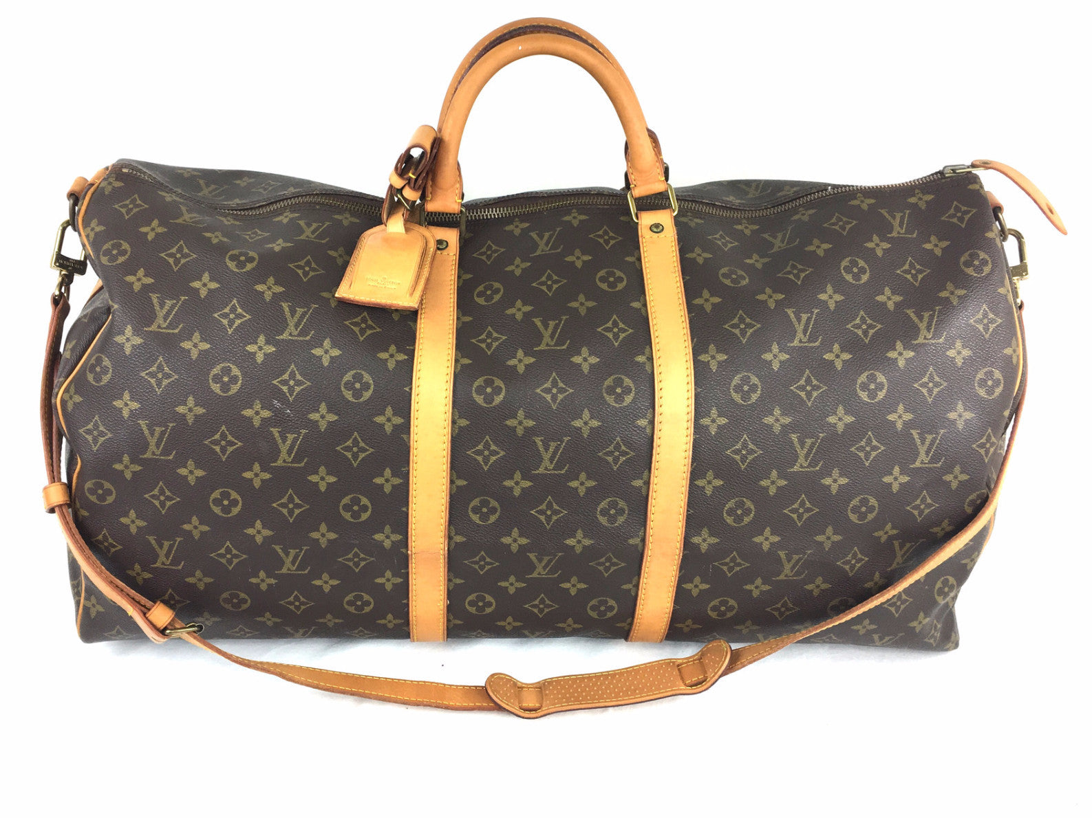 LOUIS VUITTON Monogram Keepall Bandouliere 60 Duffel Bag