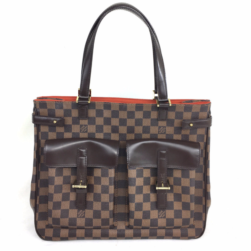 LOUIS VUITTON Damier Ebene Uzes Tote Bag