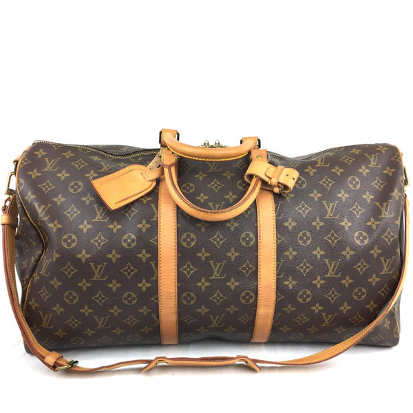 LOUIS VUITTON Monogram Keepall 55 Bandouliere Duffel Bag