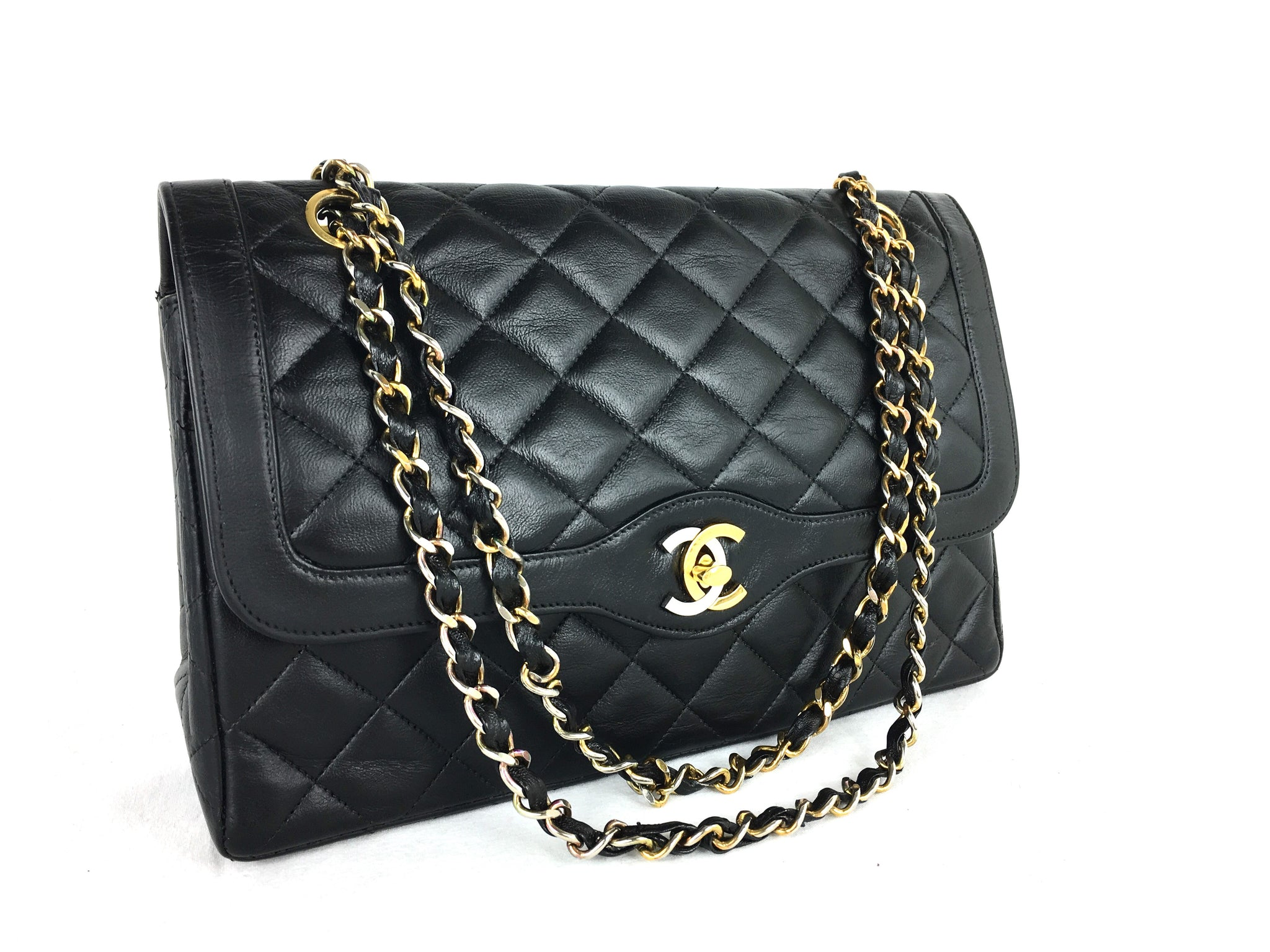 CHANEL Paris Limited Edition 2.55 Double Flap Vintage Bag