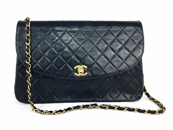 CHANEL Black Lambskin Flap Bag