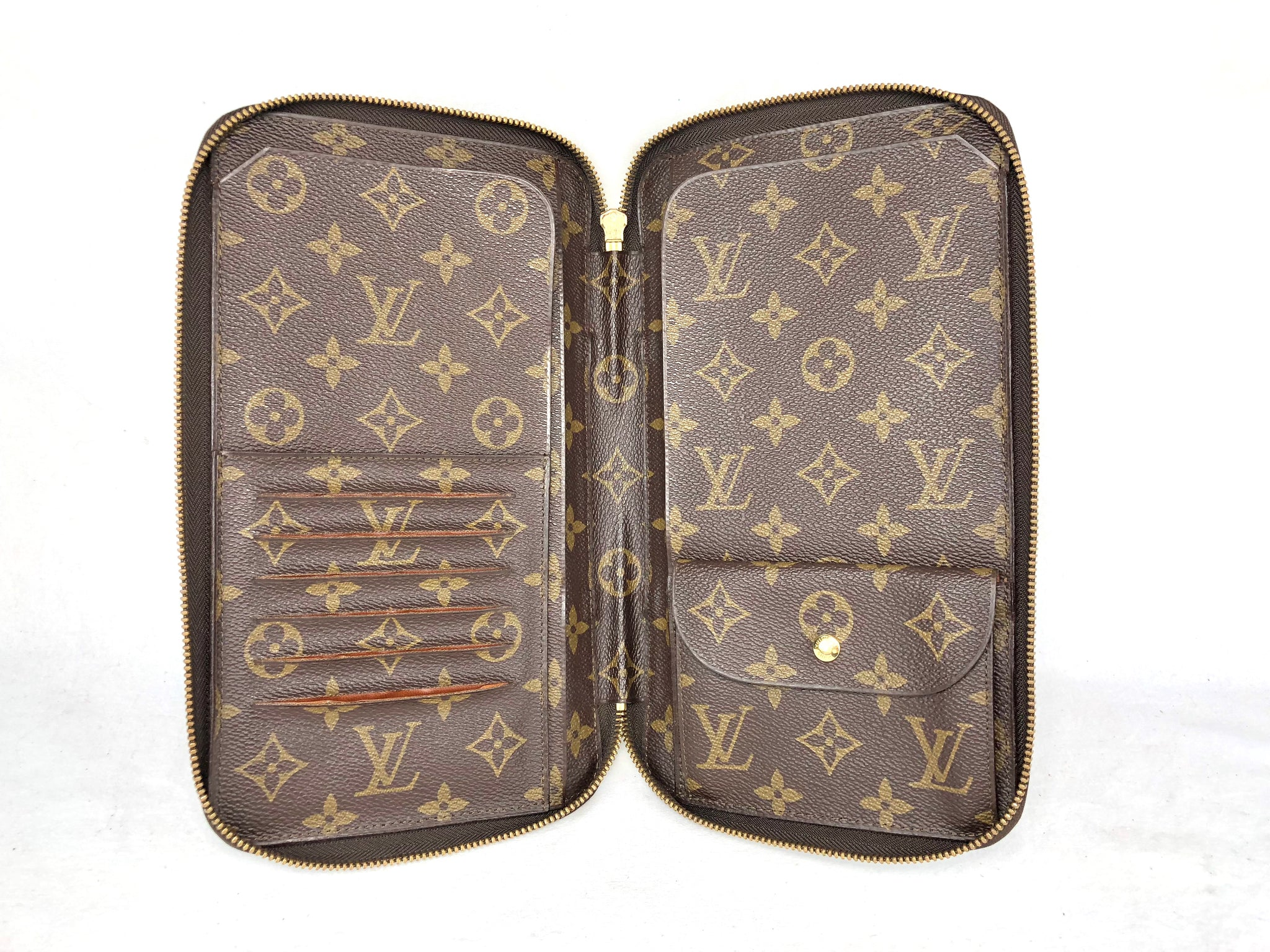 Rare LOUIS VUITTON XL Zippy Organizer Travel Wallet Clutch