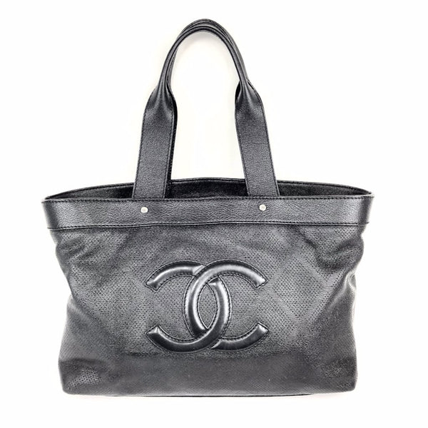 CHANEL Black Logo Tote