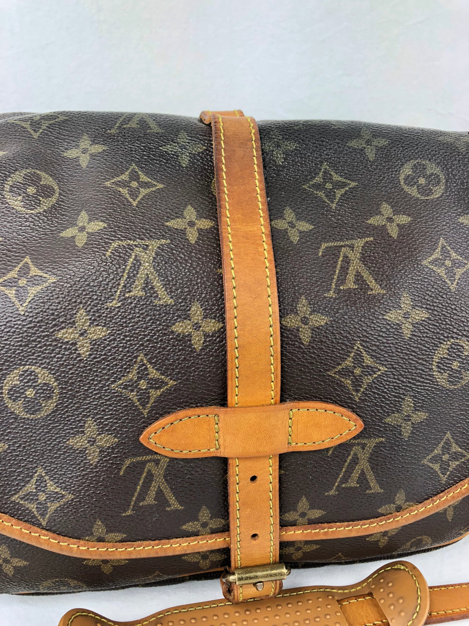 LOUIS VUITTON Saumur 30 Crossbody Bag (Monogram)