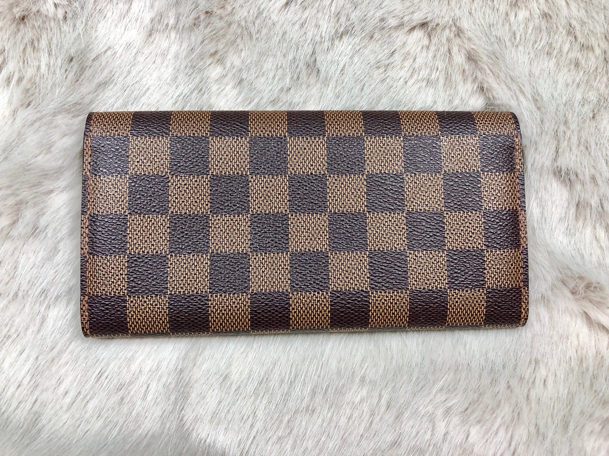 LOUIS VUITTON Damier Ebene Long Wallet