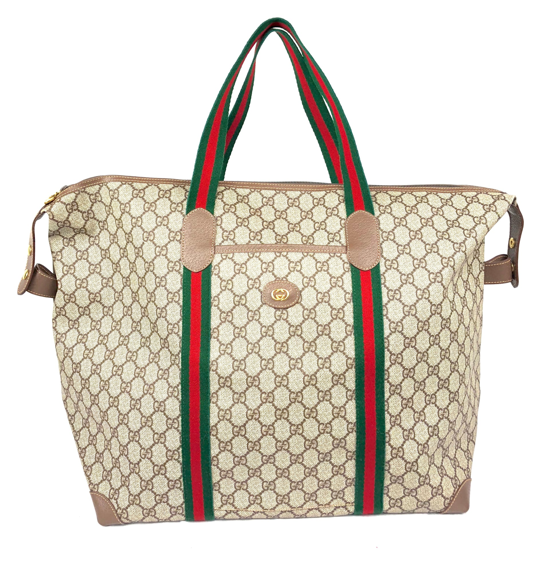 GUCCI Supreme XL Travel Tote Bag
