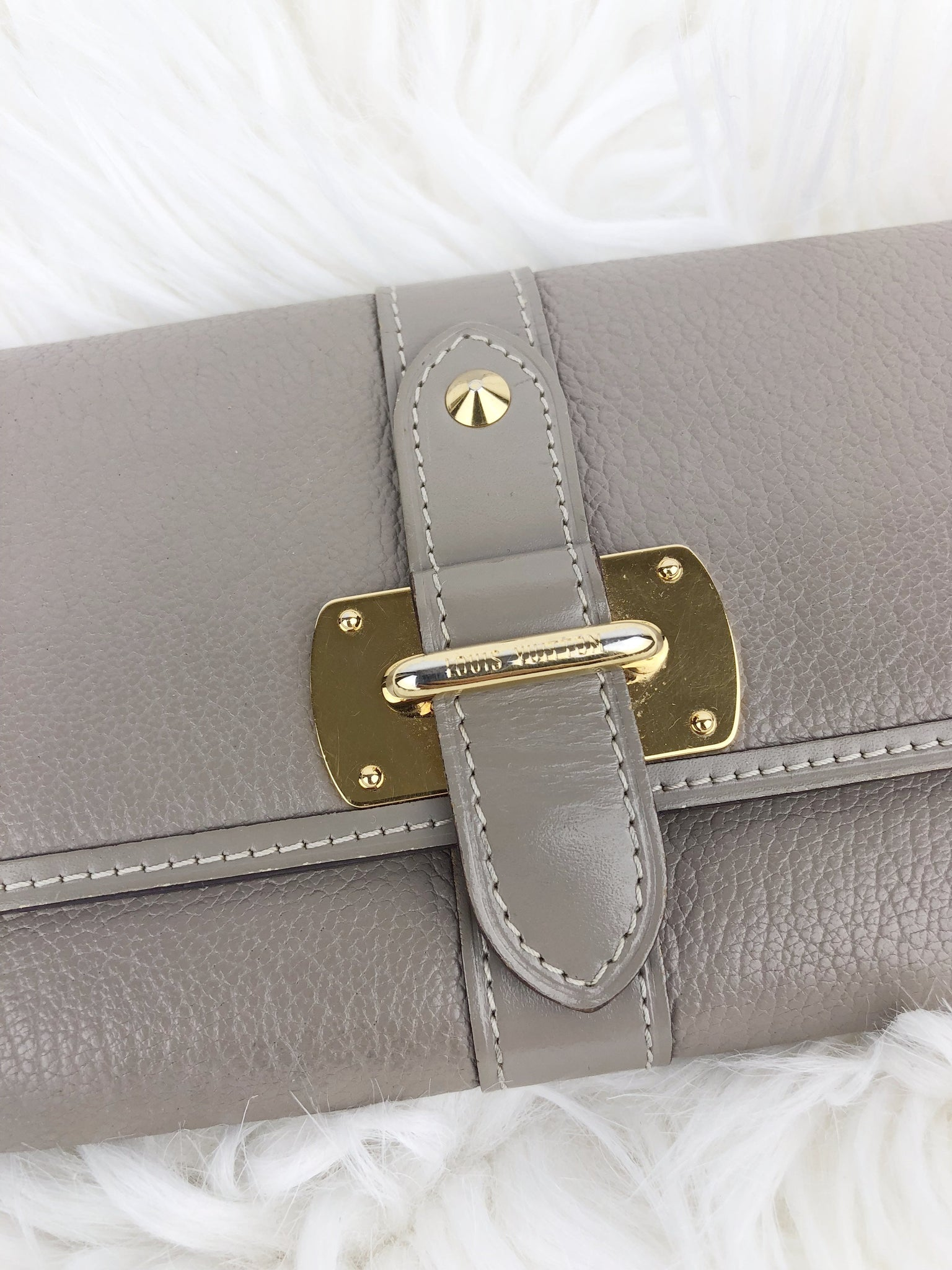 LOUIS VUITTON Taupe Suhali Wallet