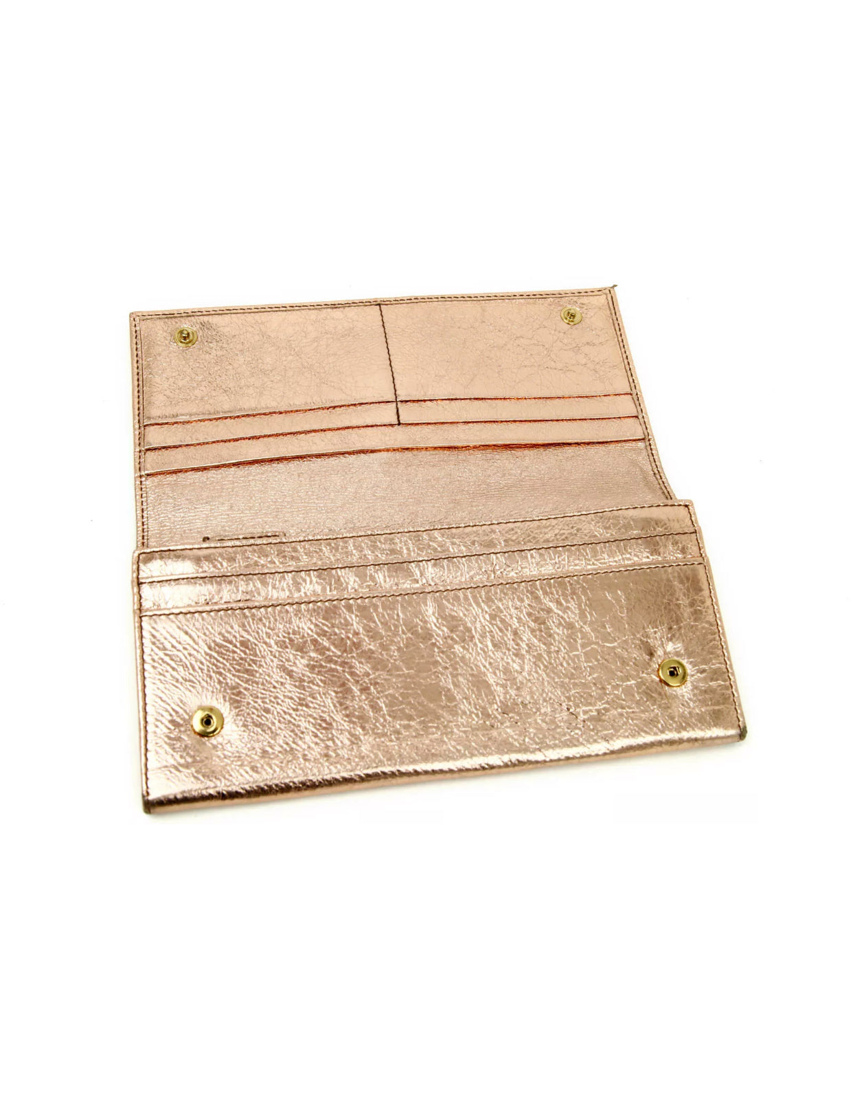 YSL Metallic Wallet Clutch
