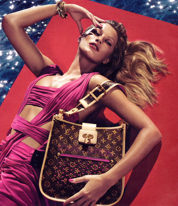 LOUIS VUITTON Limited Edition Perforated Musette Bag (Monogram & Fuchsia )